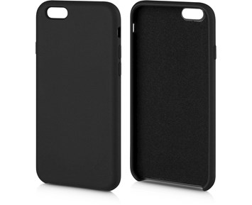 Andersson Silicone Case w/ Microfiber Black for Apple iPhone 6/6S