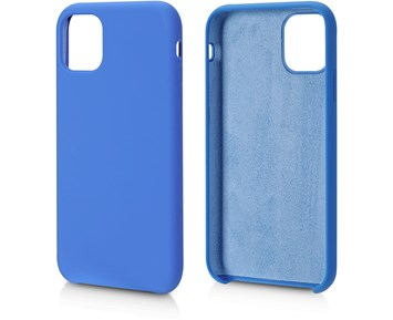 Andersson Silicone Case w/ Microfiber Blue for Apple iPhone 11