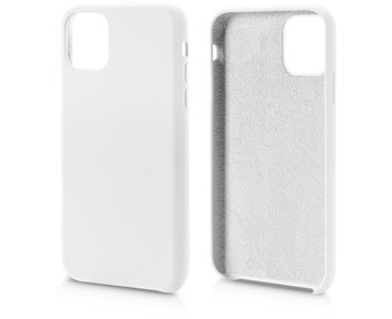 Andersson Silicone Case w/ Microfiber White for Apple iPhone 11