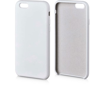 Andersson Silicone Case w/ Microfiber White for Apple iPhone 6/6S