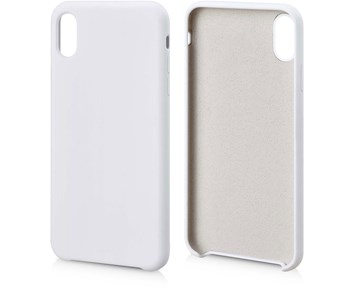 Andersson Silicone Case w/ Microfiber White for Apple iPhone XS Max