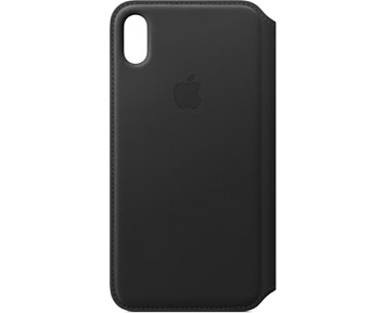 Apple iPhone XS Max Leather Folio - Black