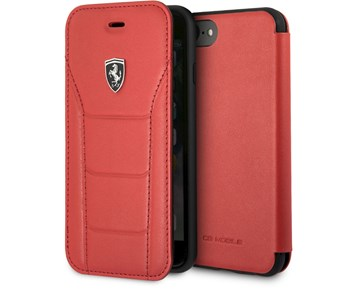 Ferrari Genuine Leather Booktype Red For Apple iPhone 8/7