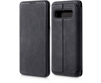 Andersson Premium Flip Wallet Case Black for Samsung S10