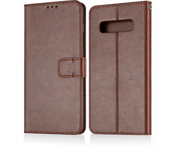 Andersson Premium Wallet Case Brown for Samsung S10 Plus