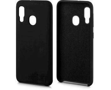 Andersson Silicone Case w/ Microfiber Black for Samsung Galaxy A20e