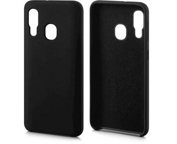 Andersson Silicone Case w/ Microfiber Black for Samsung Galaxy A40