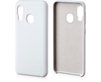 Andersson Silicone Case w/ Microfiber White for Samsung Galaxy A20e