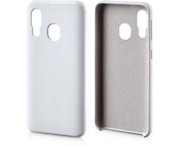 Andersson Silicone Case w/ Microfiber White for Samsung Galaxy A40
