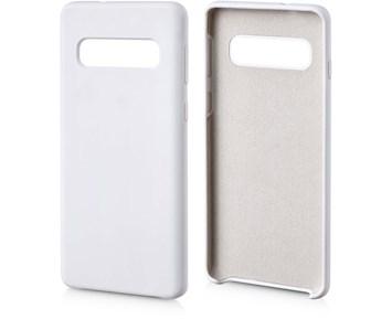 Andersson Silicone Case w/ Microfiber White for Samsung Galaxy S10