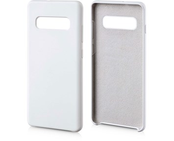 Andersson Silicone Case w/ Microfiber White for Samsung Galaxy S10 Plus