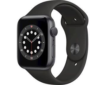 Apple Watch Series 6 GPS 44mm Space Gray Aluminium Case with Black Sport Band – Regular