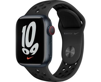 Apple  Watch Nike Series 7 GPS, 41mm Midnight Aluminium Case with Anthracite/Black Nike Sport Band - Regular