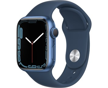 Apple  Watch Series 7 GPS, 41mm Blue Aluminium Case with Abyss Blue Sport Band - Regular