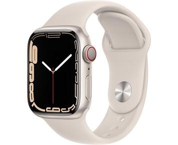 Apple  Watch Series 7 GPS + Cellular, 45mm Starlight Aluminium Case with Starlight Sport Band - Regular