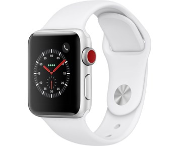 Apple Watch Series 3 38 mm GPS/Cellular Silver Alu Case White Sport Band