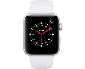 Apple Watch Series 3 42mm GPS/Cellular Silver Alu Case White Sport Band MTH12FS/A