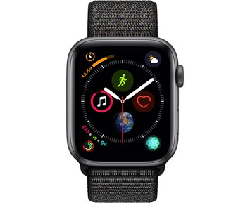 Apple Watch Series 4 GPS + Cellular, 44mm Space Grey Aluminium Case with Black Sport Loop