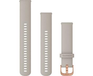 Garmin Armband med snäppspänne sand/roseguld (20 mm)