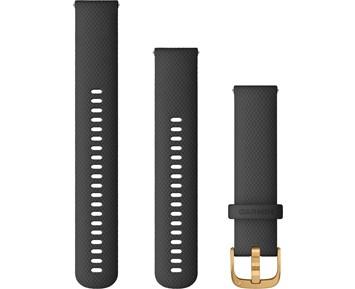 Garmin Armband med snäppspänne svart/guld (20 mm)