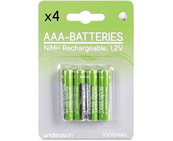 Andersson HR03 AAA 1,2V 1000mAh