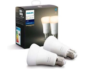 Philips HUE 9W A60 E27 2Pack White