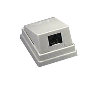 Deltaco Wallsocket angeled UTP 1xRJ45
