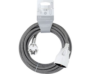 Andersson Extension cord textile black/white, 5m