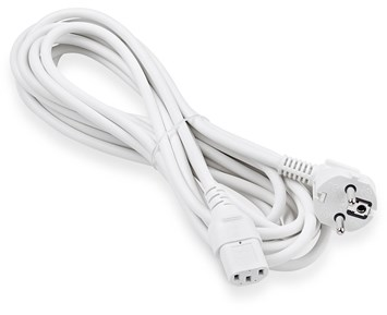 ON Euro 3-pin power cable 5m white