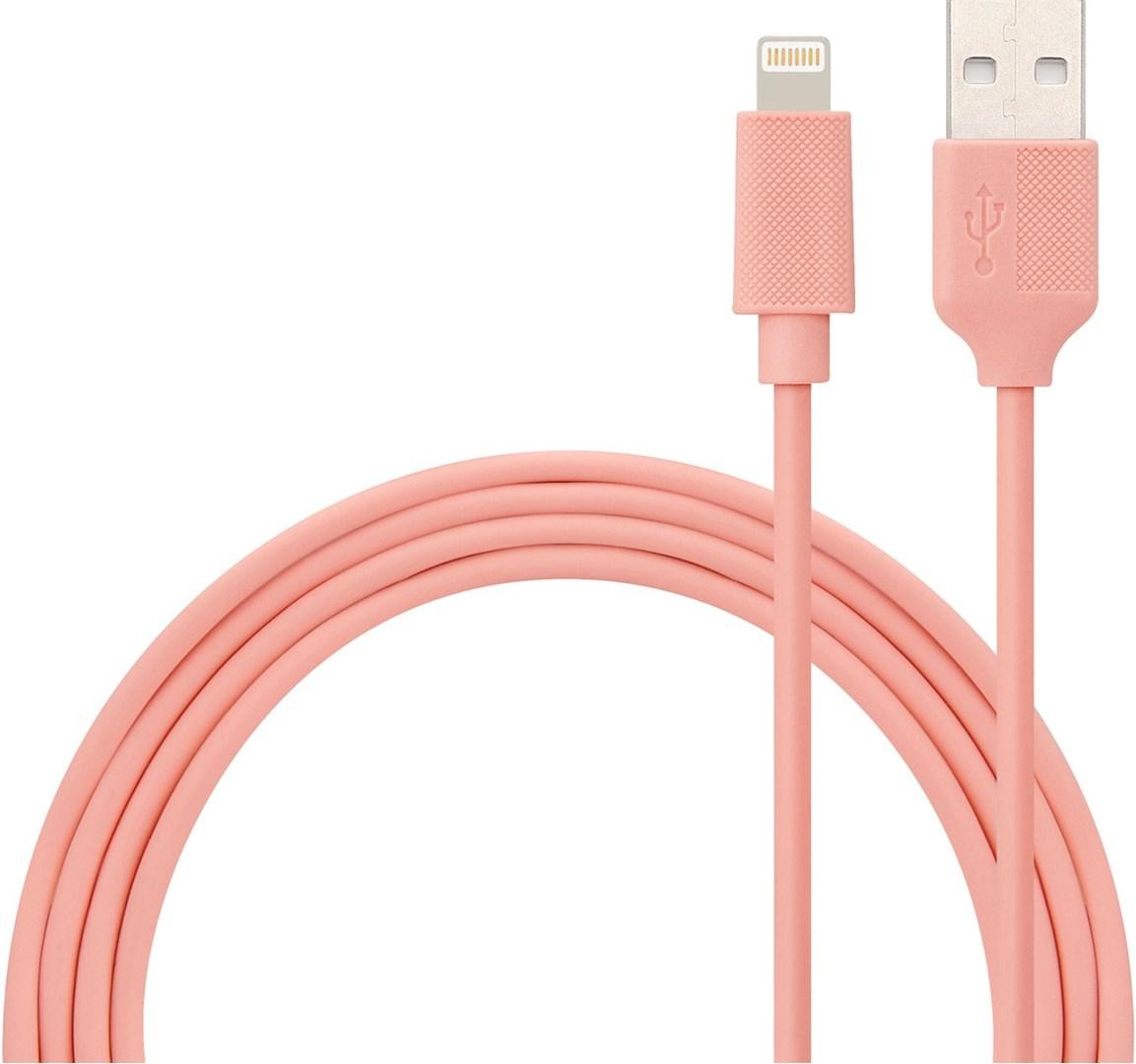 2 m iphone kabel med vägladdare