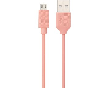 ON Micro-USB Cable Pink 0,25M 1A