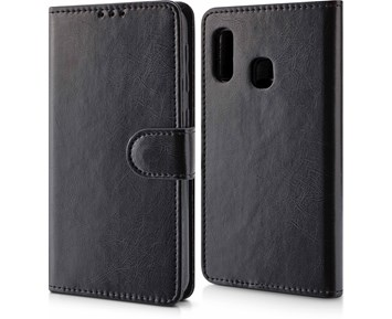 Andersson Magnetic Wallet Case Black for Samsung A20e