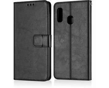 Andersson Premium Wallet Case Black for Samsung A20e