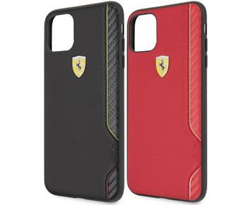 Ferrari On Track Racing Shield PU Rubber Soft Black for Apple iPhone 11 Pro Max