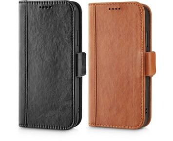 Andersson Genuine Leather Wallet w/ Magnetic Case Black for Apple iPhone 11