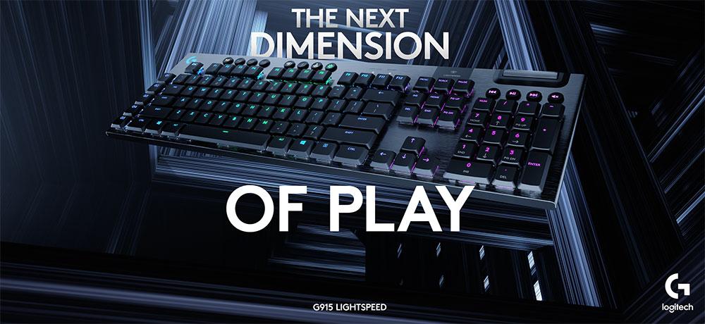 Logitech G915 Wireless Low Profile Gaming Keyboard Tactile