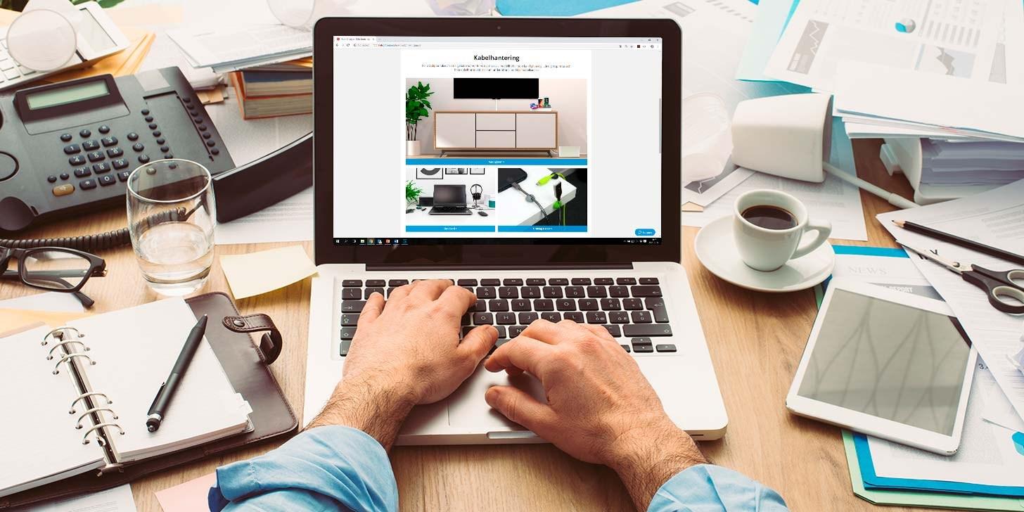 Bli mer produktiv med ett rent skrivbord