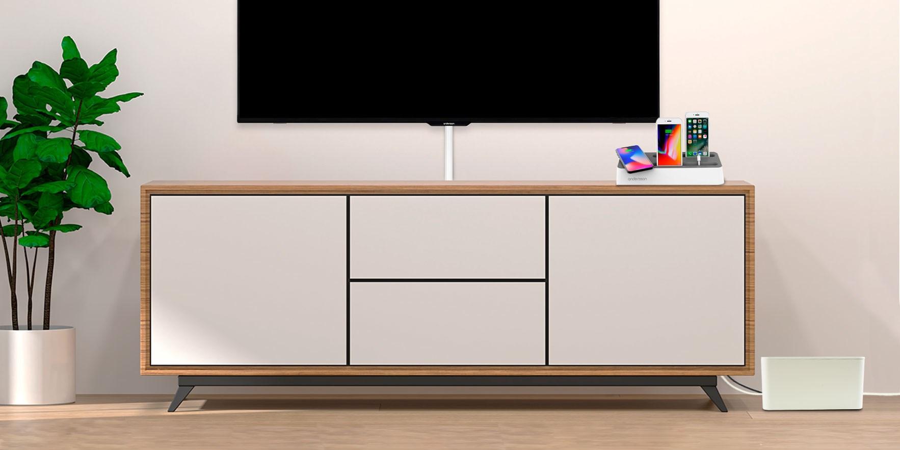 Se produkter för kabelhantering vardagsrum