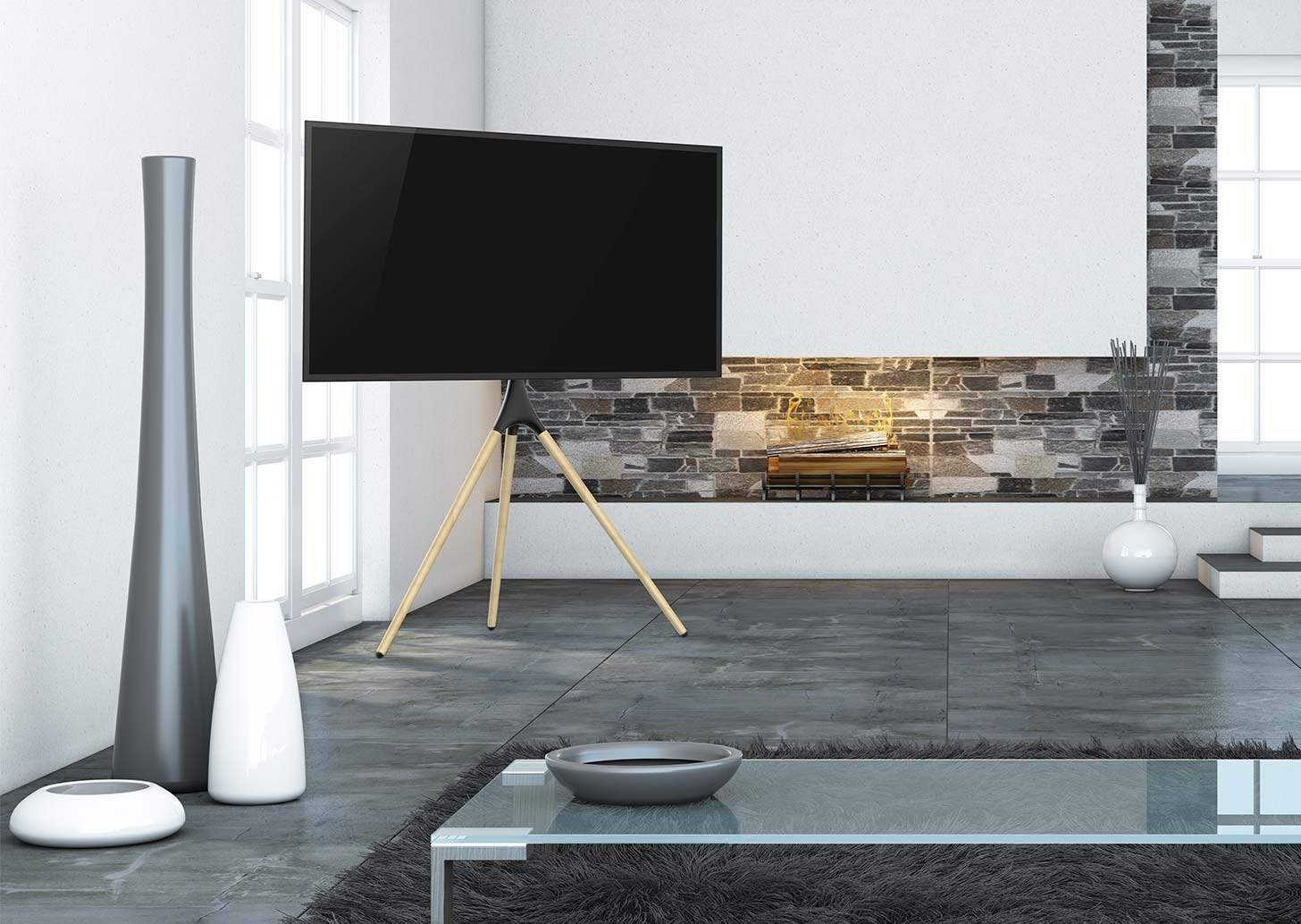 TV med golvstativ