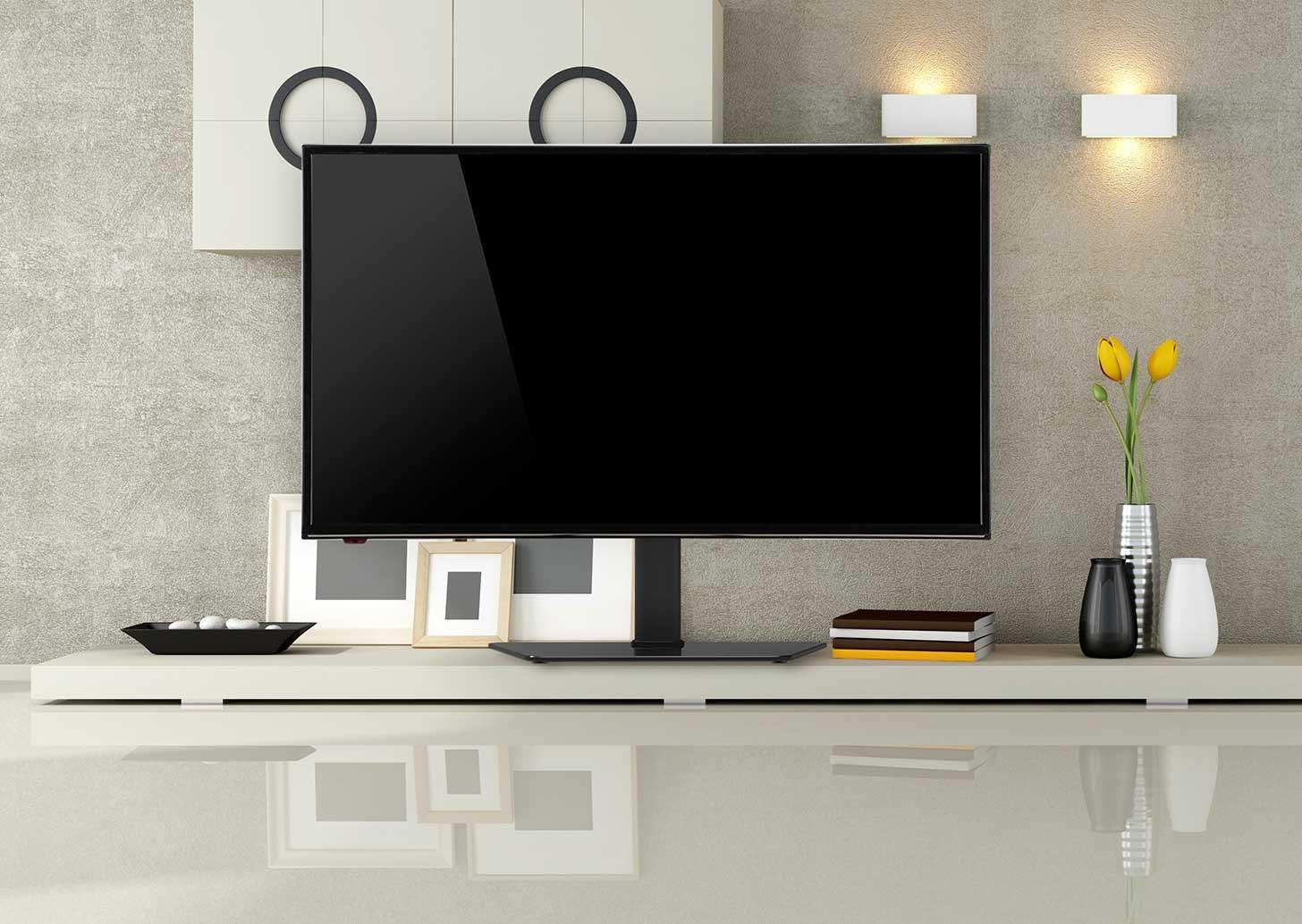 TV med bordsstativ