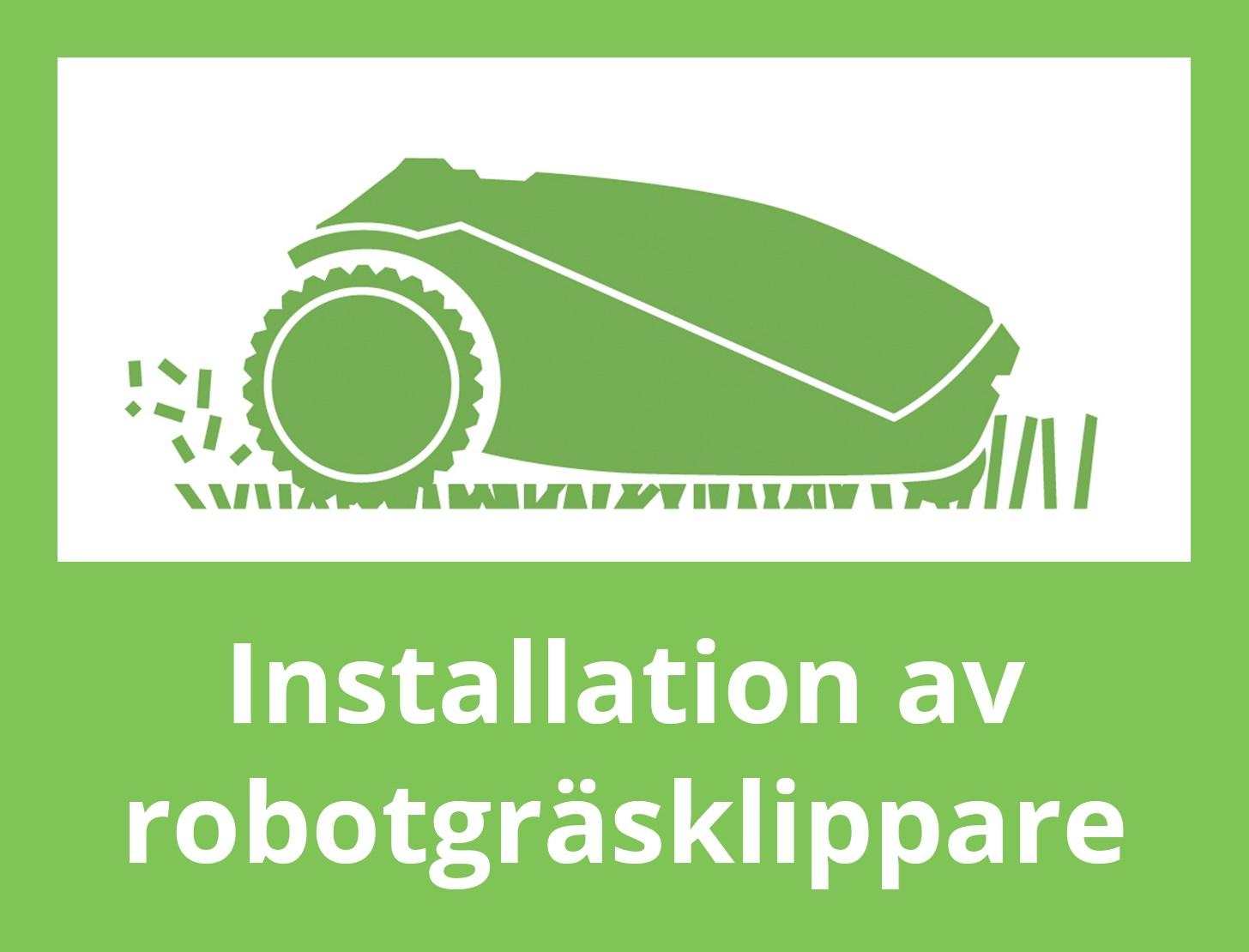 Fast pris på heminstallation av din robotgräsklippare!