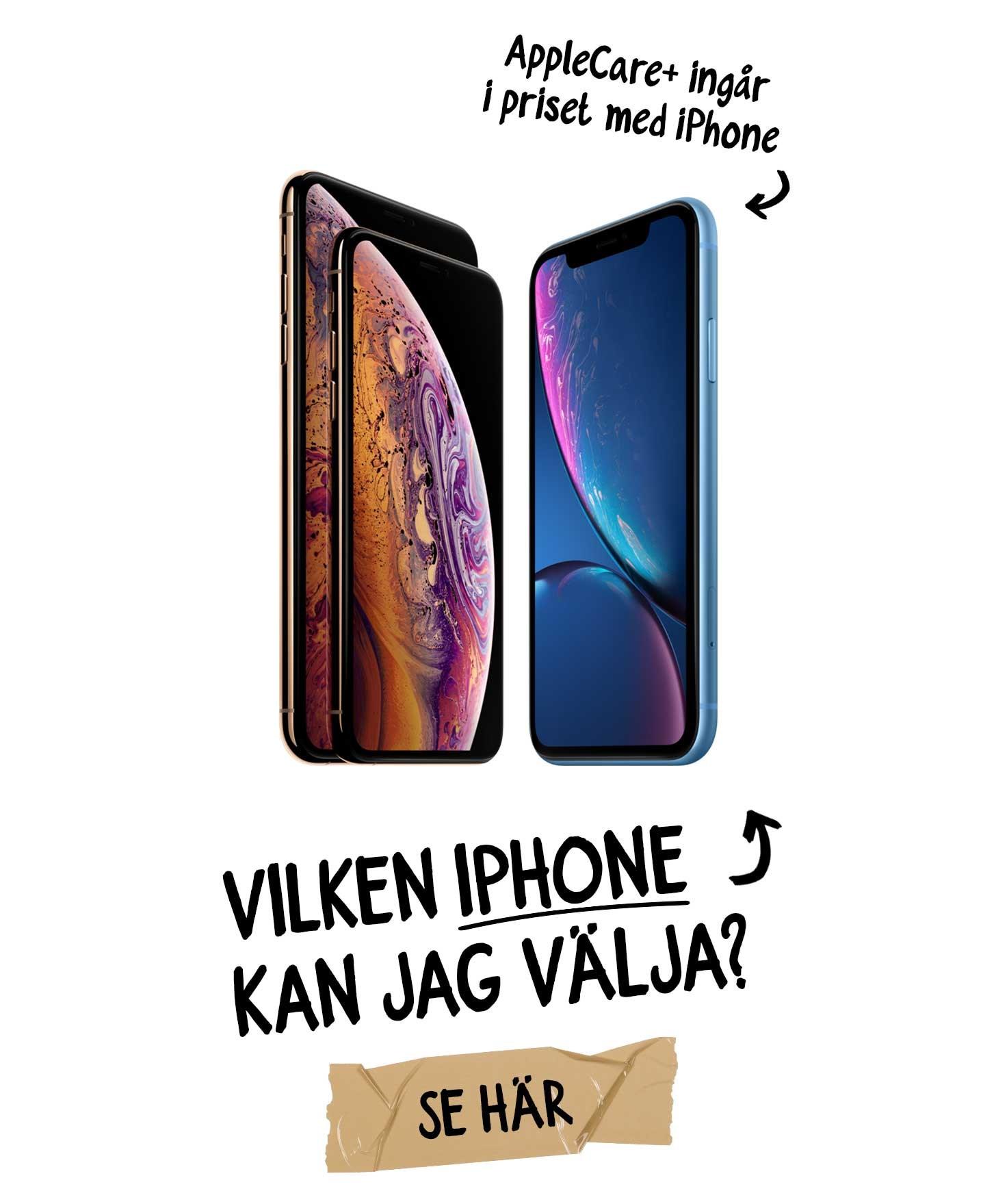 Vilken iPhone kan jag välja med Växla Upp?