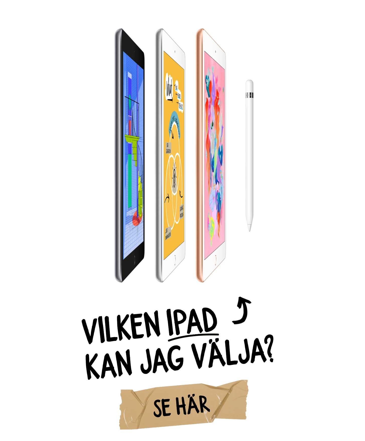 Vilken iPad kan jag välja med Växla Upp?