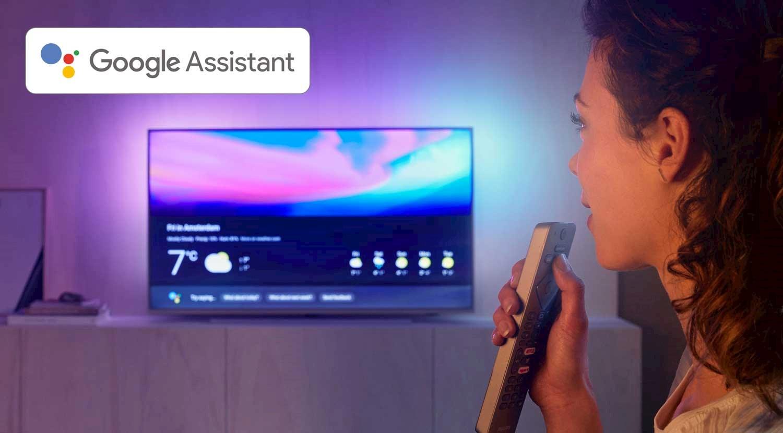 Som en moderne smart-TV har selvsagt PUS8545 Google Assistant.