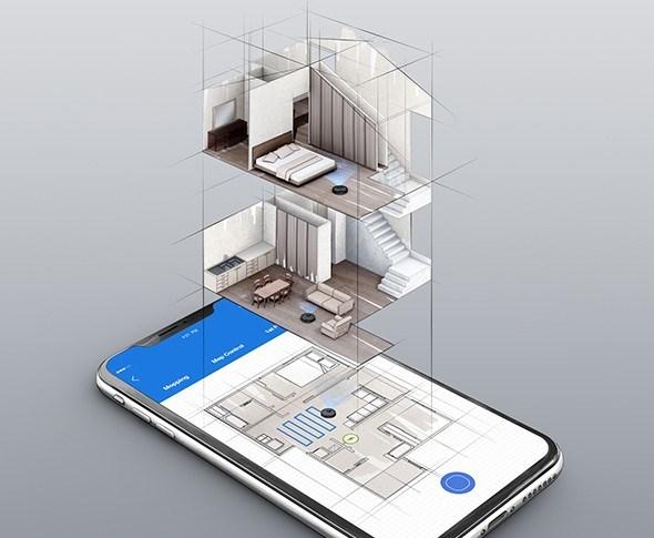 Med T8 kan du lage kart over flere etasjer.