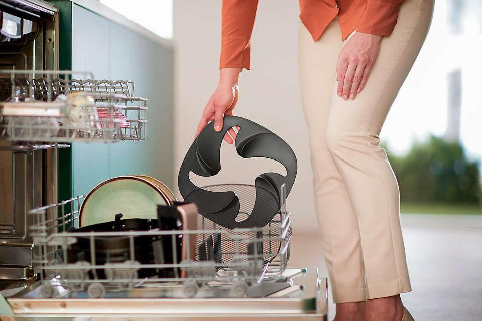 Alle avtakbare deler av Airfryer XXL tåler oppvaskmaskin.