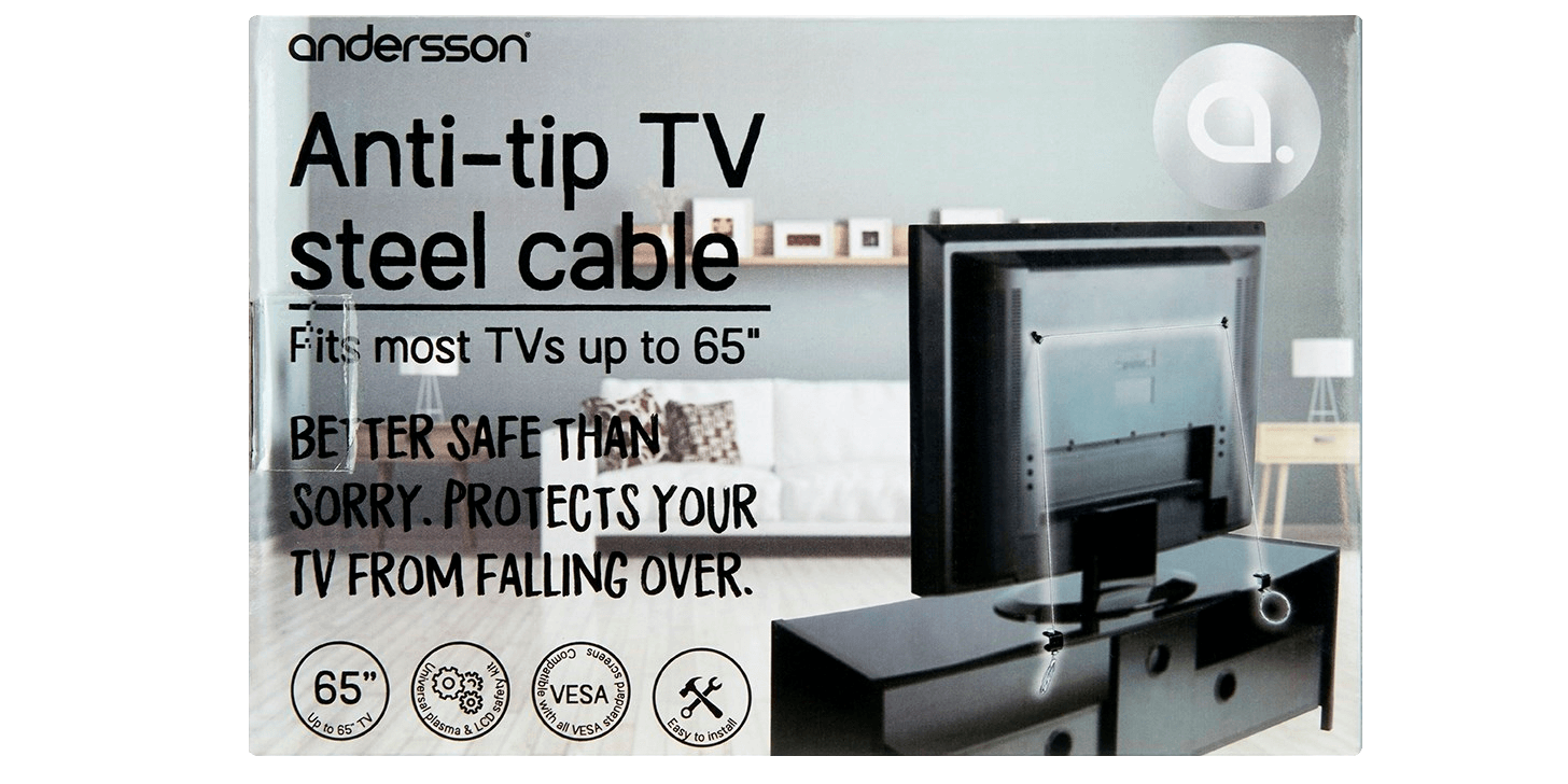 Andersson Anti-tip TV Steel Cable
