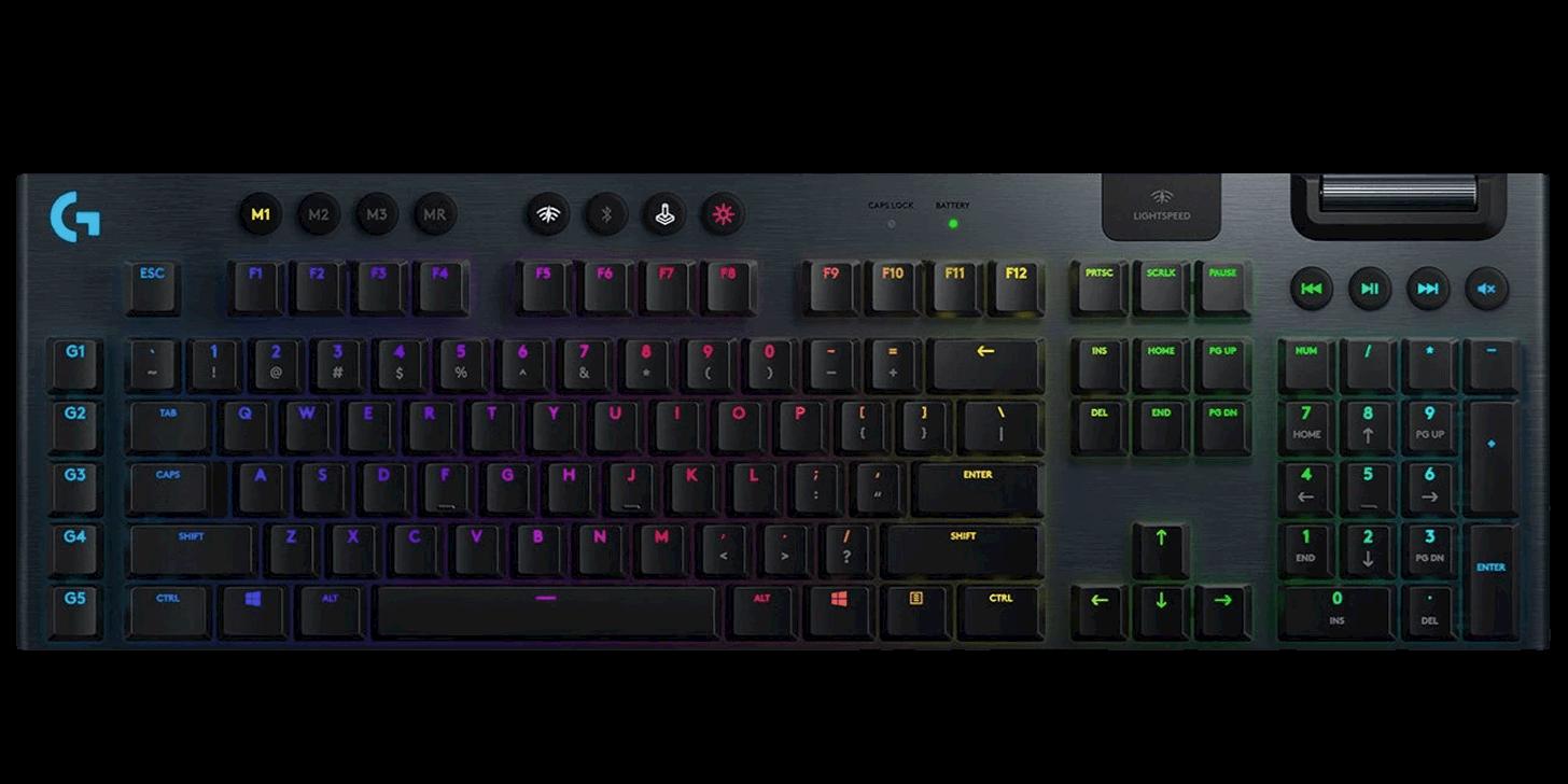 Logitech G915 Wireless Low Profile Gaming Keyboard - Tactile