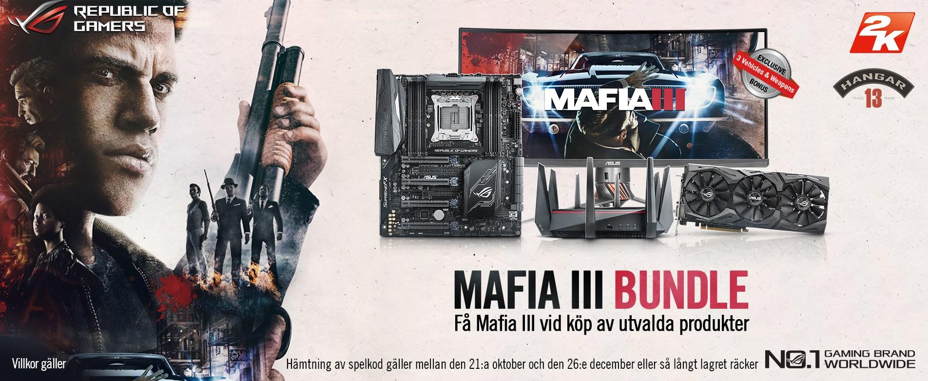 Köp utvalda ASUS-produkter och få Mafia III utan extra kostnad