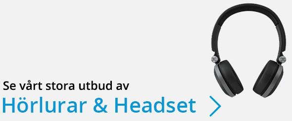 Se vårt stora utbud av Hörlurar & Headset